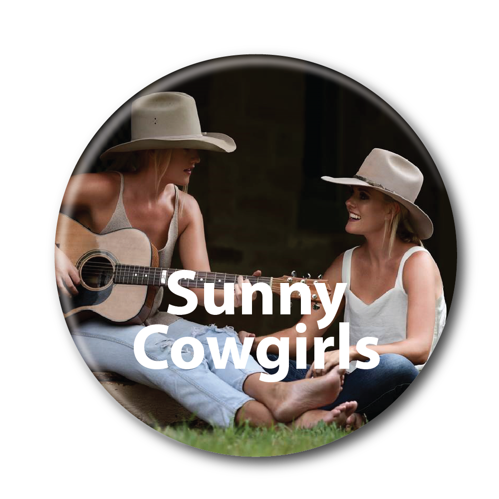 sunny cowgirls button